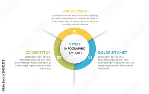 Fototapeta Circle Infographics - Three Elements obraz