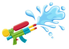 Water Gun Illustration. Plasti...