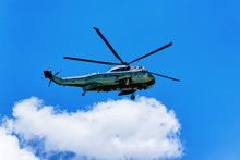 Helicopter Was Flying In Sky In Washington