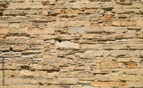 Foto op Plexiglas Wand Castle Brick Wall