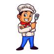 Chef Boy Mascot Design Vector