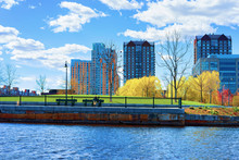Modern Buildings At North Point Park Charles River Cambridge