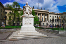 Humboldt  Statue At Humboldt University In Berlin