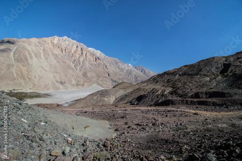 Poster Donkergrijs Landscape of Leh Ladakh