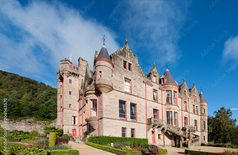 Fototapety, obrazy: Belfast castle. Tourist attraction on the slopes of Cavehill Country Park in Belfast, Northern Ireland