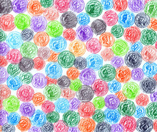 A Colorful Pencils Sketchy Bac...
