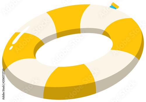 Fototapeta A Swimming Ring Yellow on White Background