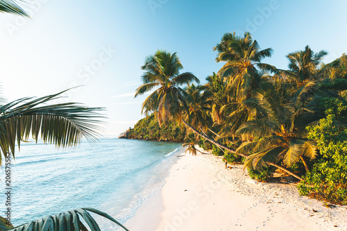 Foto op Canvas Tropical strand Tropical Beach in Seychelles