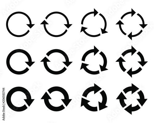 Fototapeta  Circle arrow icon