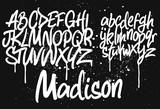 Fototapeta Teenage - Marker Graffiti Font