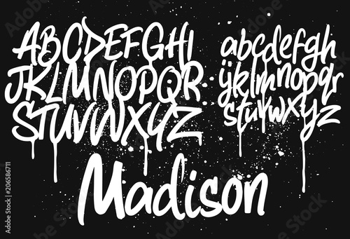 Deurstickers Graffiti Marker Graffiti Font