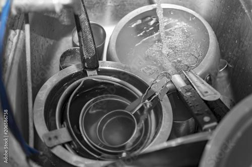 Fotografía  Dirty plates and utensils