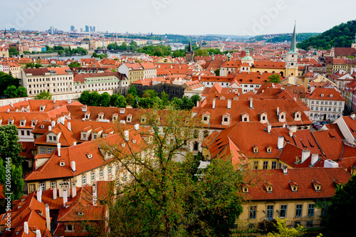 Photo  Prague rooftops