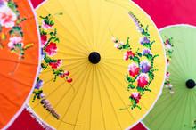 Oriental Paper Umbrellas Of Va...
