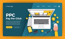 Mock-up Design Website Flat De...