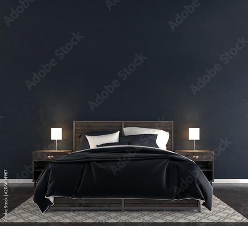 Fotografía  Blank wall in bedroom