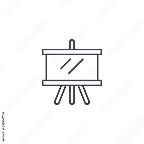Fotografía  Making a draft linear icon concept