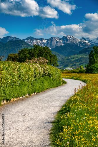 Valokuva  The charming village of Busskirch (Kirchdorf), Rapperswil-Jona, Sankt Gallen, Switzerland