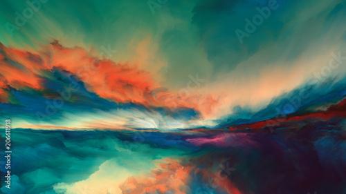 Horizon Paint Wallpaper Mural