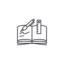 Writing-book Linear Icon Conce...