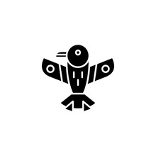 American Indian Eagle Black Icon Concept. American Indian Eagle Flat  Vector Symbol, Sign, Illustration.