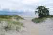 Boardwalk leading through the dunes to the beach at Parnu, Estonia