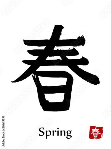 Fotografie, Obraz  Hand drawn Hieroglyph translate Spring