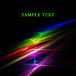 Abstract rainbow fractal on black background