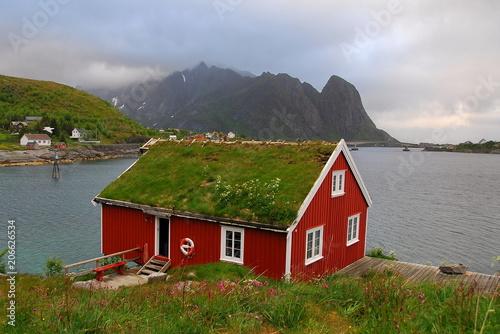 Foto op Plexiglas Arctica Norway. Fisherman's village in the Lofoten Islands