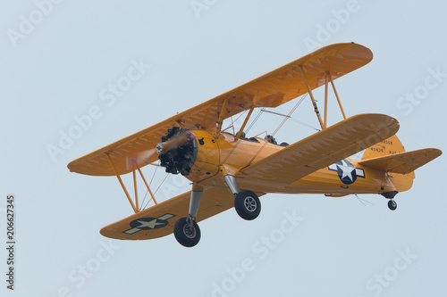 Photo aircraft flyght on military airshow