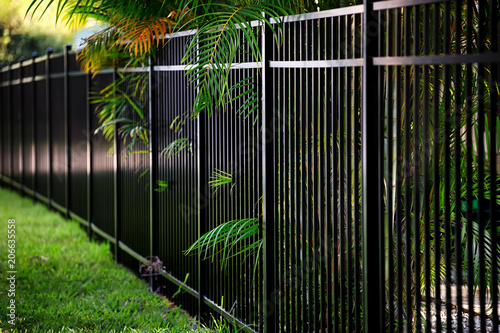 Black Aluminum Fence - Buy this stock photo and explore
