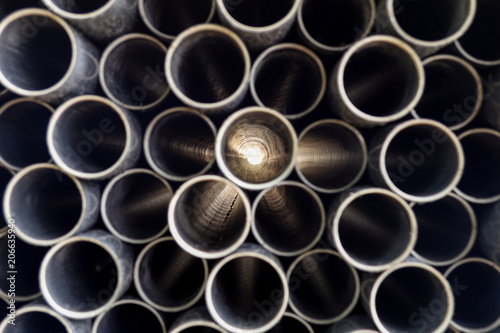 Fotomural  long pvc pipe