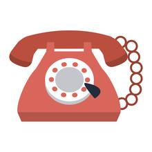 Vintage Telephone Cartoon Vect...