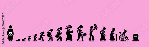 Photo Female life cycle and aging process