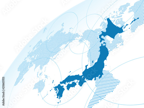 Fotografia  日本地図 世界地図 グローバル ビジネス