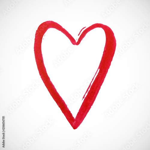 Red Heart On White Background Hand Drawn Painted Heart For T Shirt Print Flyer Poster Design Vector Illustration Buy This Stock Vector And Explore Similar Vectors At Adobe Stock Adobe Stock