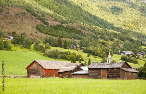 Poster Scandinavië Rural place in Norway
