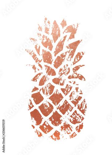 ilustracja-ananas-miedziany-modny