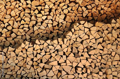 Folded firewood. Background #206662369