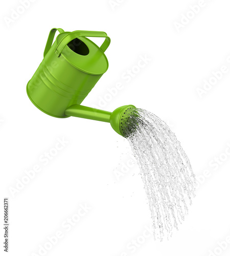 Obraz Watering Can Pouring Water Isolated - fototapety do salonu