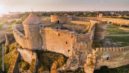 Aerial view on citadel of ancient fortress Akkerman which is on the bank of the Dniester estuary, in Odessa region Tapéta, Fotótapéta