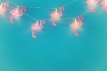 A Plastic Flamingo Garland Lig...