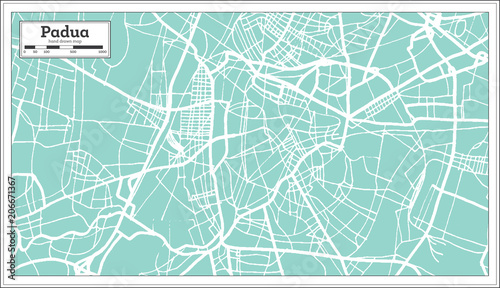 Padua Italy City Map In Retro Style Outline Map Buy This Stock