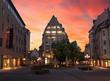 Nürnberg Ludwigsplatz Altstadt Sonnenuntergang