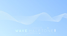 Abstract Wave – Business Background. Halftone Dots Surface – Minimal Futuristic Design.