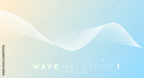 Photo  Abstract dotted halftone wave, business background