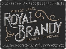 "Vintage Label Typeface Named ""..."