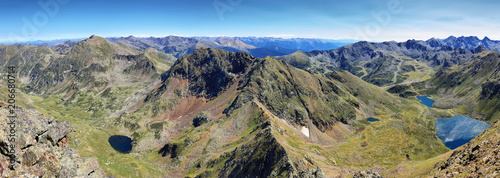 Tristaina high mountain lakes in Pyrenees. Andorra.