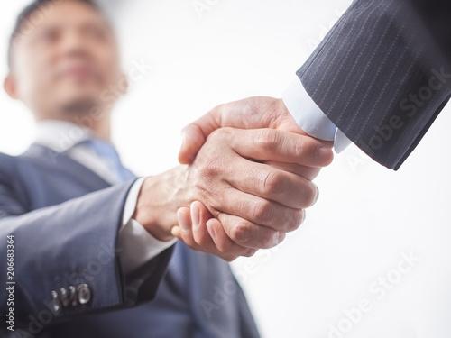 握手をする男性ビジネスマン Canvas Print