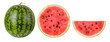 canvas print picture - watermelon on a white background, isolated